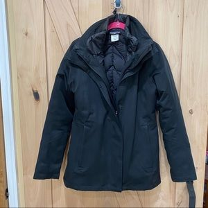 Patagonia Tres 3-in-1 Down Parka H2NO Black Sz S